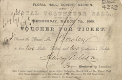Ticket for a ball at the Floral Hall